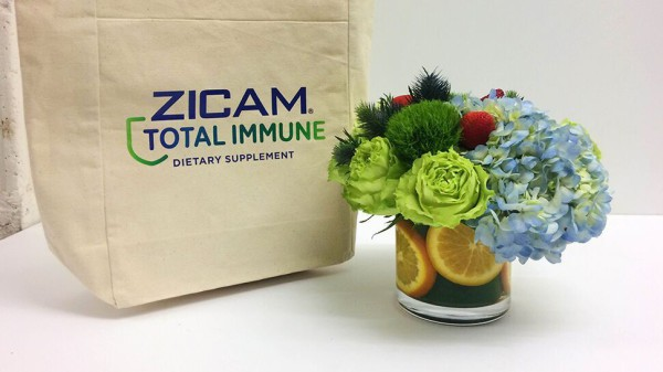 NYC product launch, Zicam, Rachel Cho Floral Design
