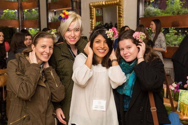 Bouley Botanical, product launch NYC, flower headband, Rachel Cho Floral Design
