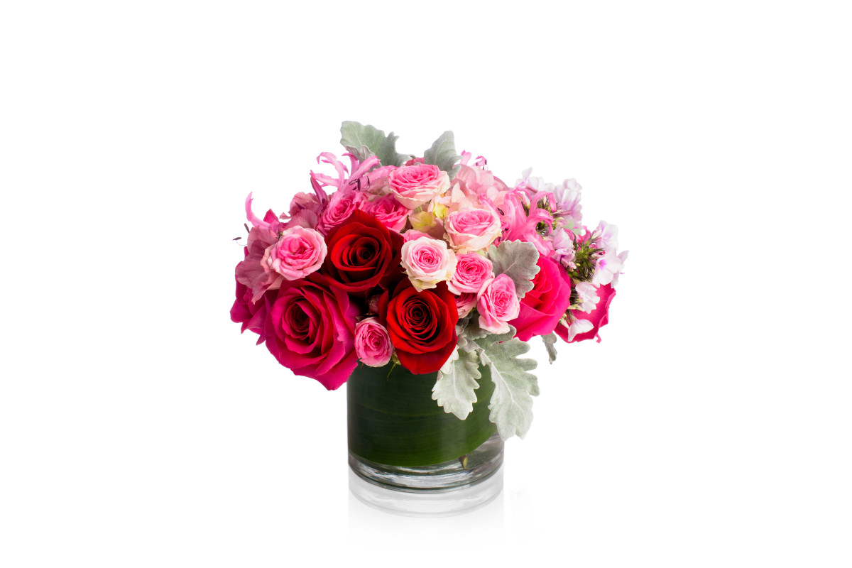 valentine's day flowers, valentine's day flowers nyc, dusty miller, rachel cho floral design