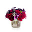 red heart rose, chocolate cosmos, brunia berry, sexy black, luxury flower gift delivery nyc, rachel cho floral design