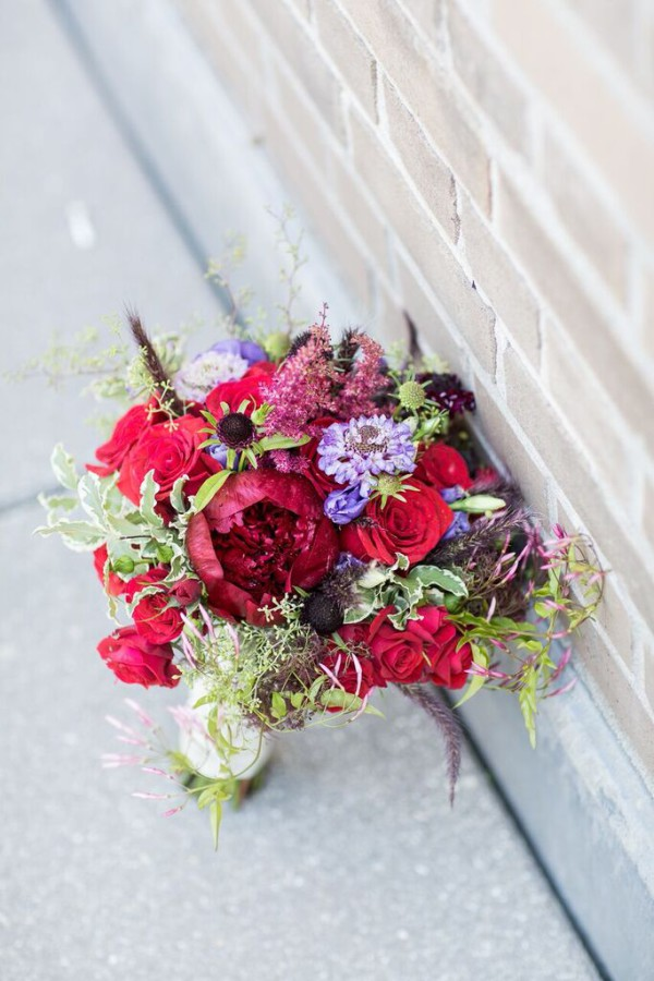 NYAC wedding, vintage bouquet, peony, Rachel Cho Floral Design