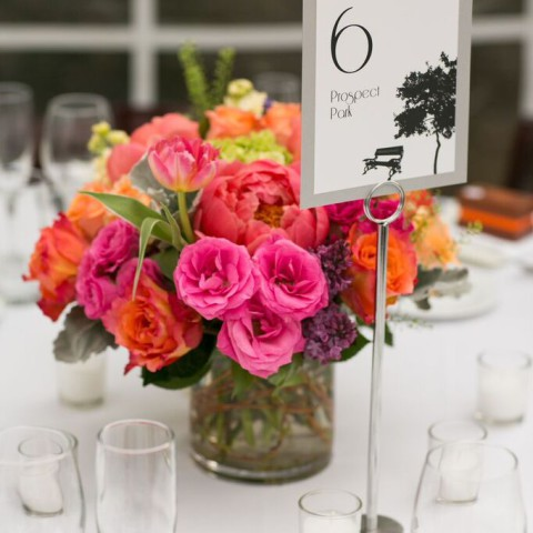 New Leaf Cafe wedding NYC, peony wedding centerpieces, Rachel Cho Floral Design