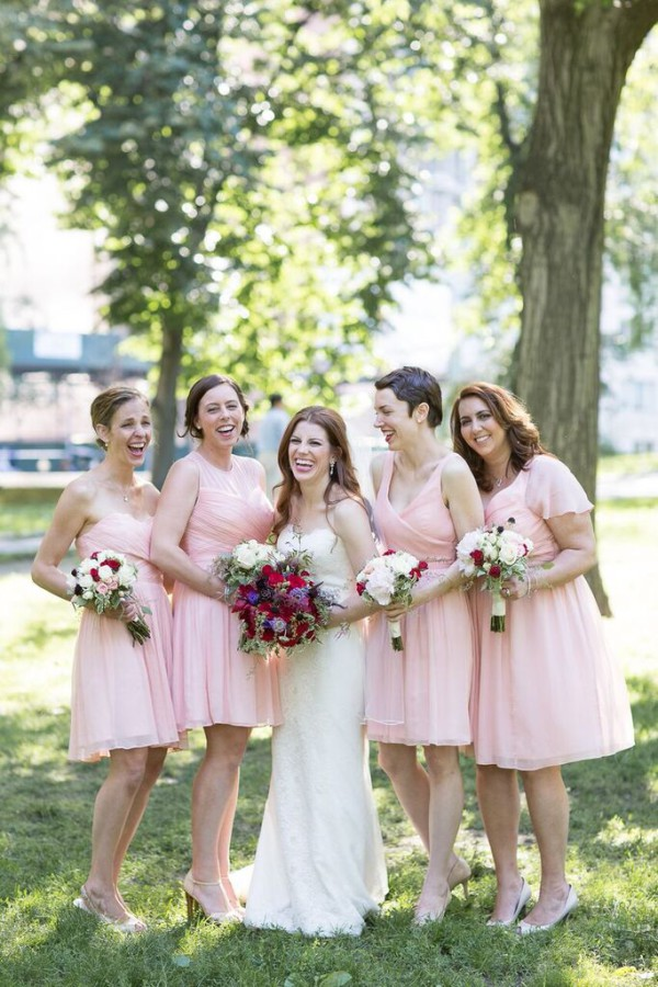 NYAC wedding, vintage wedding, bridesmaids and bride photo, Rachel Cho Floral Design