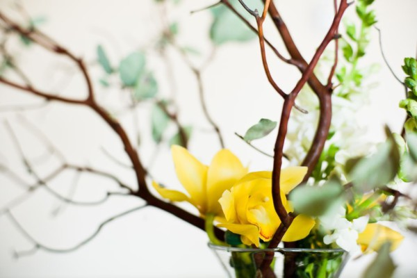 NYC Event flowers, orchids, Rachel Cho Floral Design