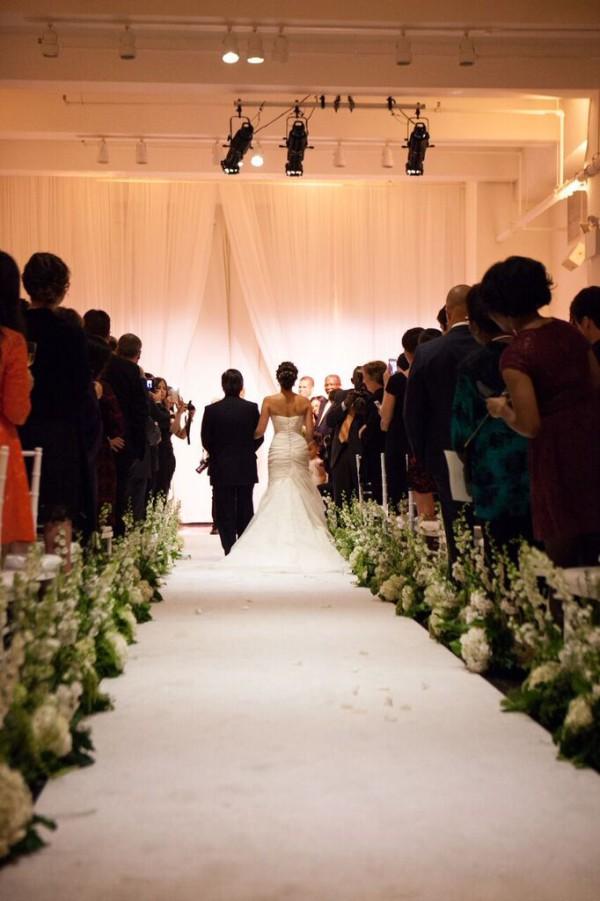 Metropolitan Pavilion NYC wedding, modern ceremony NYC, Rachel Cho Floral Design