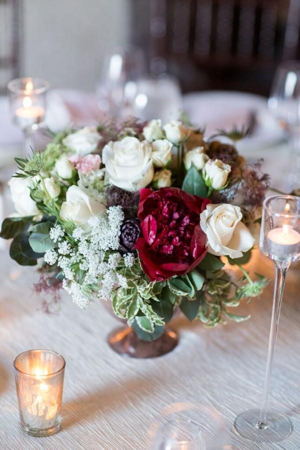NYAC wedding, vintage wedding centerpieces, Rachel Cho Floral Design