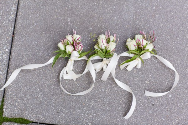 NYAC wedding, corsages, Rachel Cho Floral Design