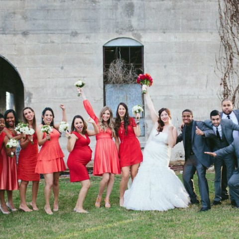 NYC wedding florist, cute bridal party photos, Rachel Cho Floral Design