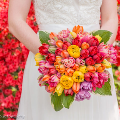 tulip bouquet, spring wedding nyc, spring wedding, rachel cho floral design