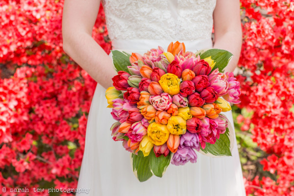 tulip bouquet, spring wedding nyc, spring wedding, rachel cho floral design