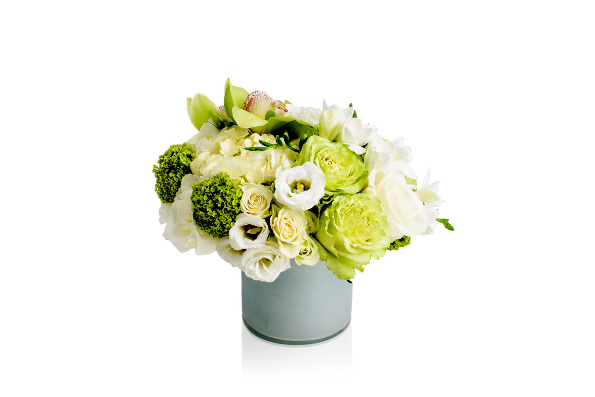 cymbidium orchid, lemonade rose flower, flower gift delivery nyc, rachel cho floral design