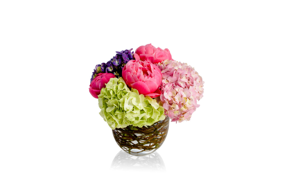 peony, peonies, hydrangea, luxury floral design, flower gift delivery nyc, rachel cho floral design