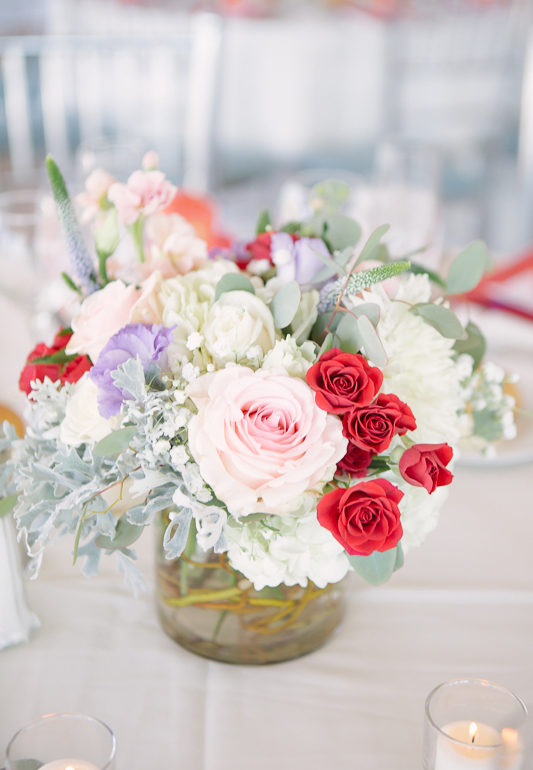 Rachel Cho Flowers | Floral Designer | colorful wedding centerpiece