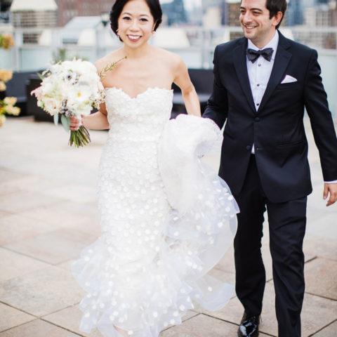 Rachel Cho Flowers   Floral Designer   wedding couple